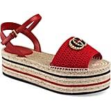 Gucci Lilibeth Platform Espadrille Sandals
