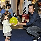 Jason Bateman brought his daughter Maple to the P.S. Arts Express Yourself event in LA on Sunday.