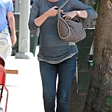 January Jones toted her purse.