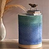Ceramic Drum Side Table