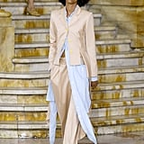 A Shirtdress Over Pants on the Sies Marjan Runway during New York Fashion Week