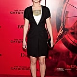 Jennifer Lawrence in Dior Minidress