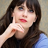 "Zooey Deschanel told US Glamour how she defends herself against critics of her girlie persona: ""I'm just being myself. There is not an ounce of me that believes any of that crap that they say. We can't be feminine and be feminists and be successful? I want to be a f*cking feminist and wear a f*cking Peter Pan collar. So f*cking what?"""