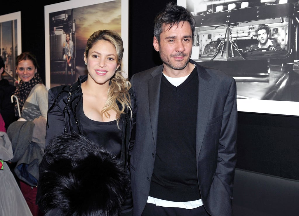 Shakira wore all black for her first postbaby outing in Barcelona on Thursday night.