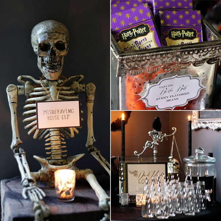 go to hogwarts with this harry potter halloween party popsugar home. Black Bedroom Furniture Sets. Home Design Ideas