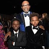 Pictured: Samuel L. Jackson, Alex R. Hibbert, and Jaden Piner