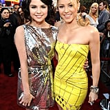 Selena Gomez and Shakira posed together on the red carpet in 2009.