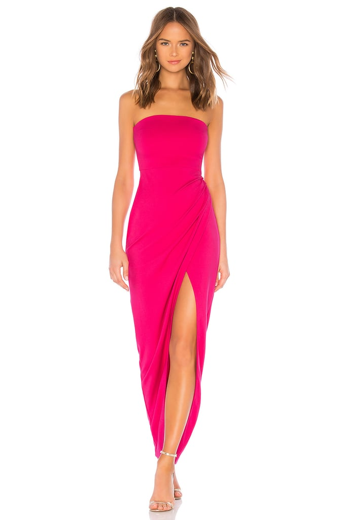 NBD Lucilda Gown in Hot Pink | Bella Hadid\'s Pink Gown in Paris 2018 ...