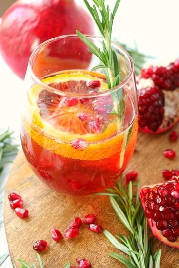 Pomegranate Citrus Champagne Cocktail