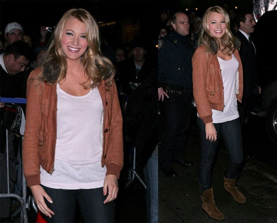 Gossip Girl Blake Lively on David Letterman