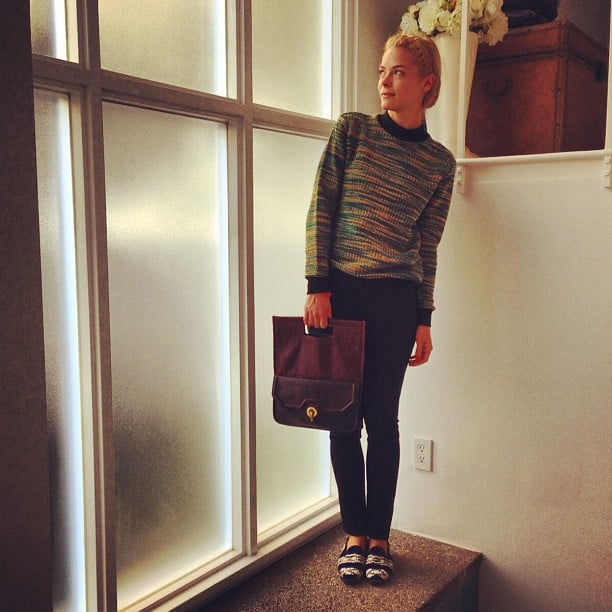 Jaime King shared her chic look of the day. Source: Instagram user jaime_king