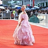 Lady Gaga Pink Valentino Dress at Venice Film Festival