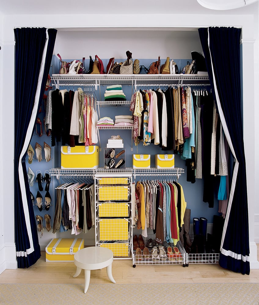 How to organize your closet without spending money How to organize your clothes without a closet