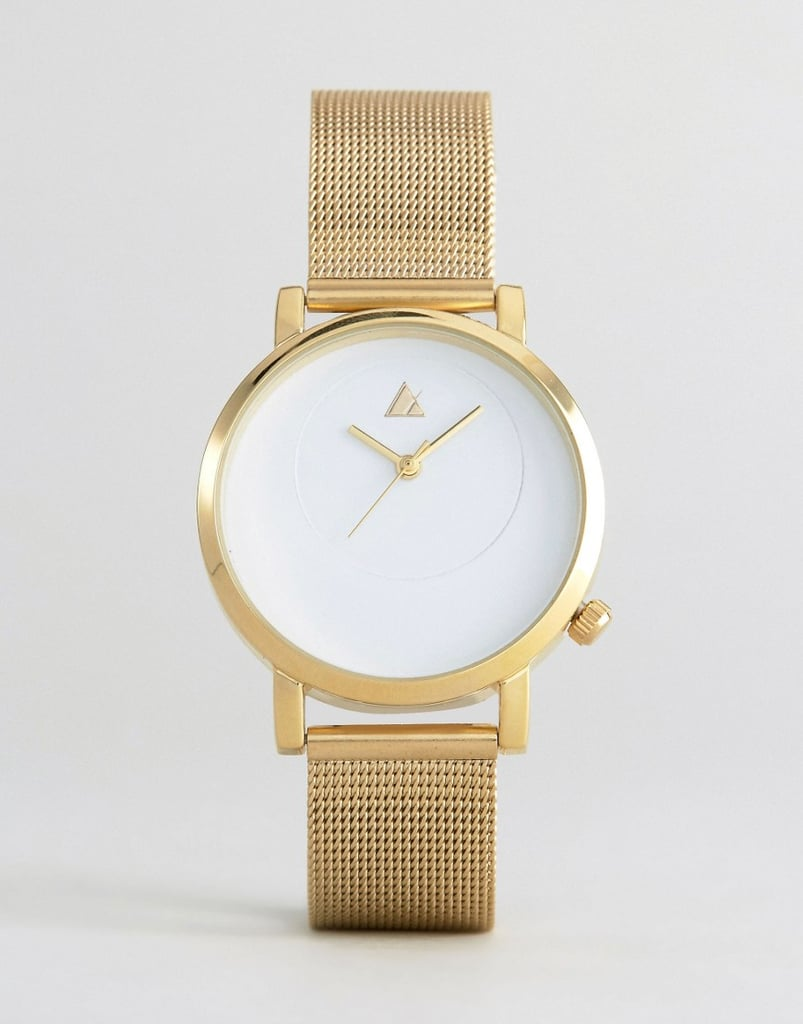 Make sure mom is never late by gifting her an Asos gold mesh watch ($24).