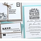 Tandem Bike Wedding Invitation