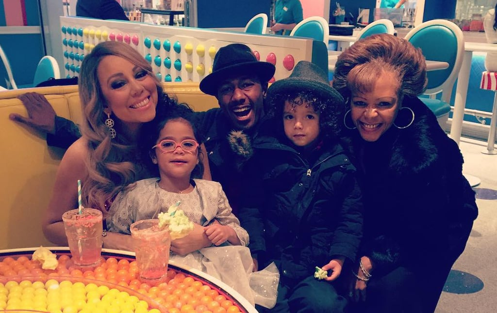 Mariah Carey and Nick Cannon Celebrating Christmas 2015