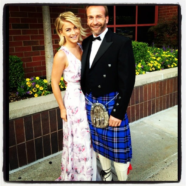 "Julianne Hough headed to a wedding with her ""handsome Scottish date."" Source: Instagram user juleshough"
