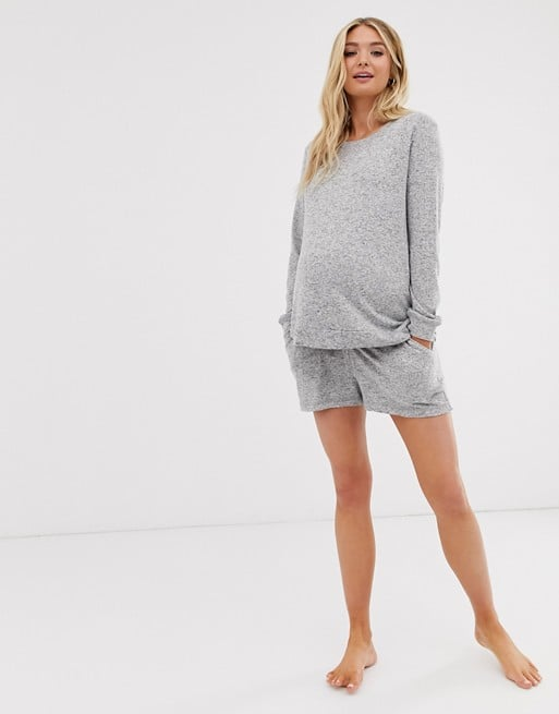 ASOS DESIGN Maternity mix & match lounge super soft brushed sweat | ASOS