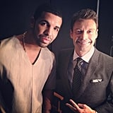 Drake posed with Ryan Seacrest on the set of American Idol. Source: Instagram user ryanseacrest