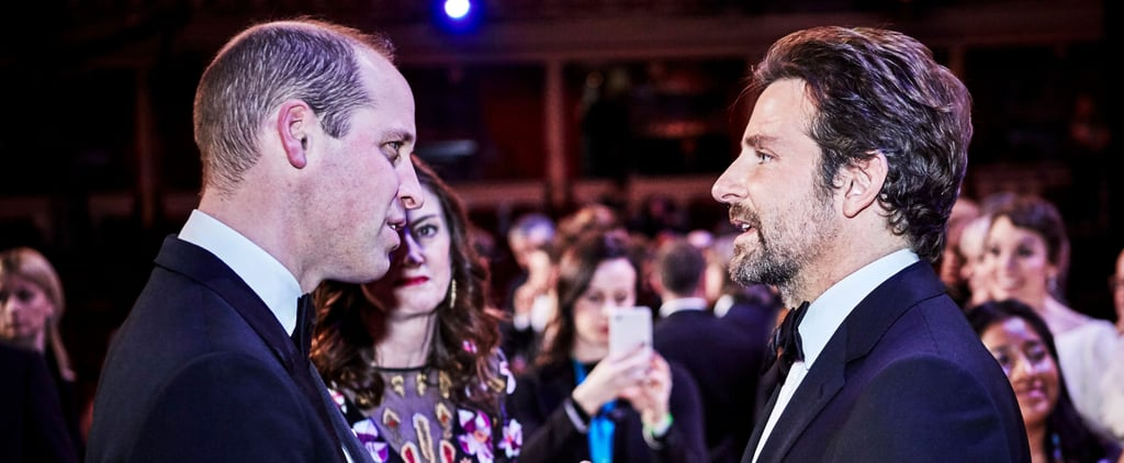 Prince William and Bradley Cooper at the 2019 BAFTAs