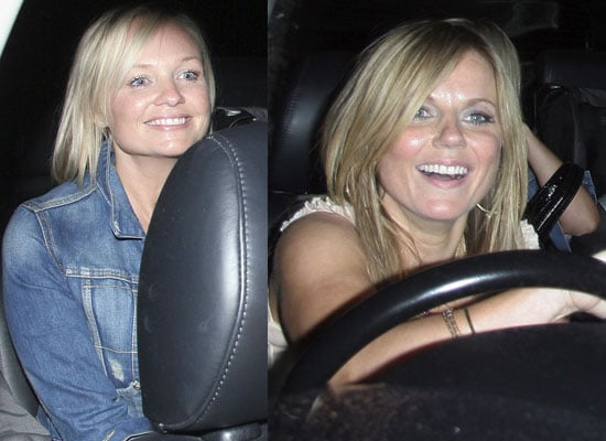 photos of geri halliwell and emma bunton together with