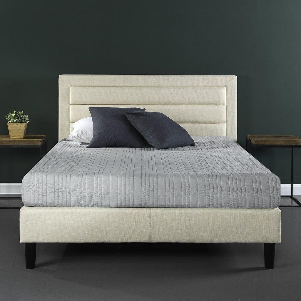 Upholstered Horizontal Detailed Platform Bed