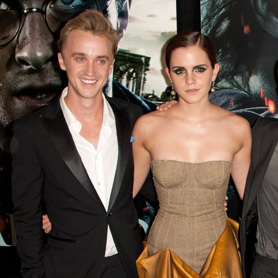 Tom Felton and Emma Watson Play on Harry Potter Set