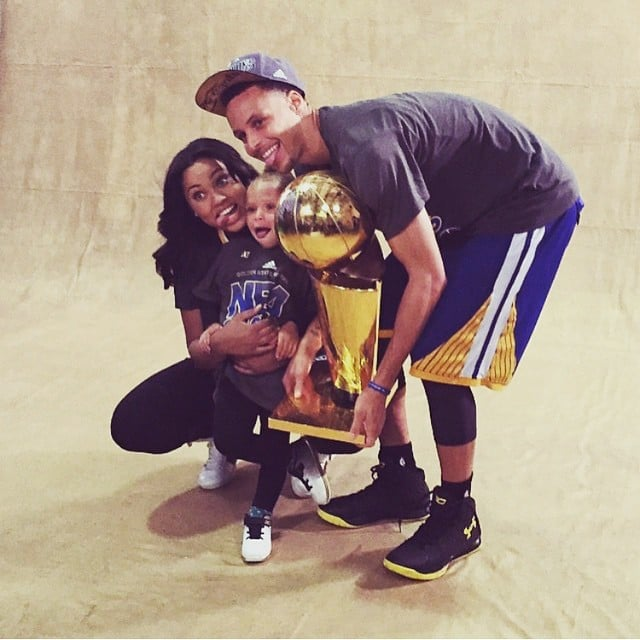 Stephen Curry With His Wife, Daughter After NBA Finals Win ...