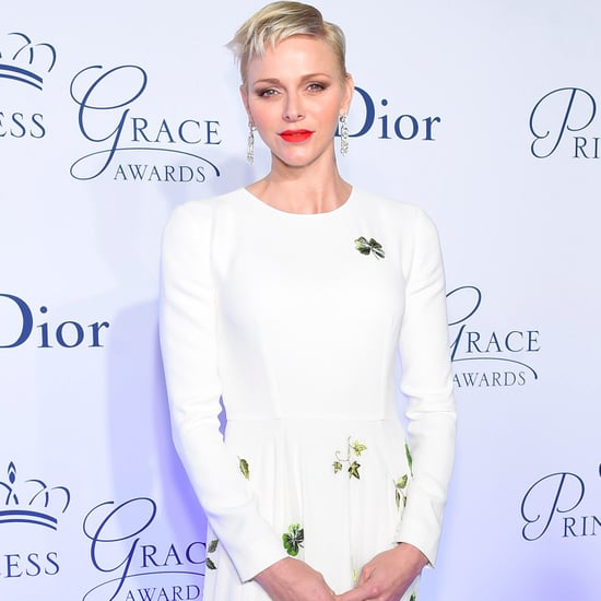 Princess Charlene White Dress at Princess Grace Awards 2016