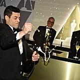Photos of Rami Celebrating His Oscar Win