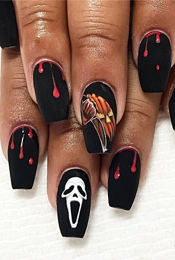 Horror Movie Villain Nail Art Ideas & Inspiration