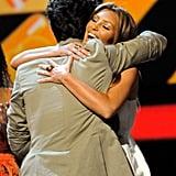 Nick Jonas Hugging Kim Kardashian at the Teen Choice Awards in 2009