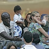 Seal and Heidi watched the 2006 US Open with Henry and Leni.