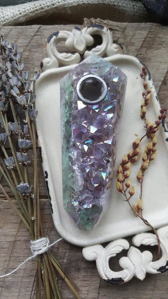 Amethyst Aura Crystal Pipe ($180; currently sold out)