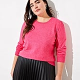 Loft Plus Puff Sleeve Sweater