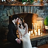 Your dress will look even lovelier lit up by the fire.