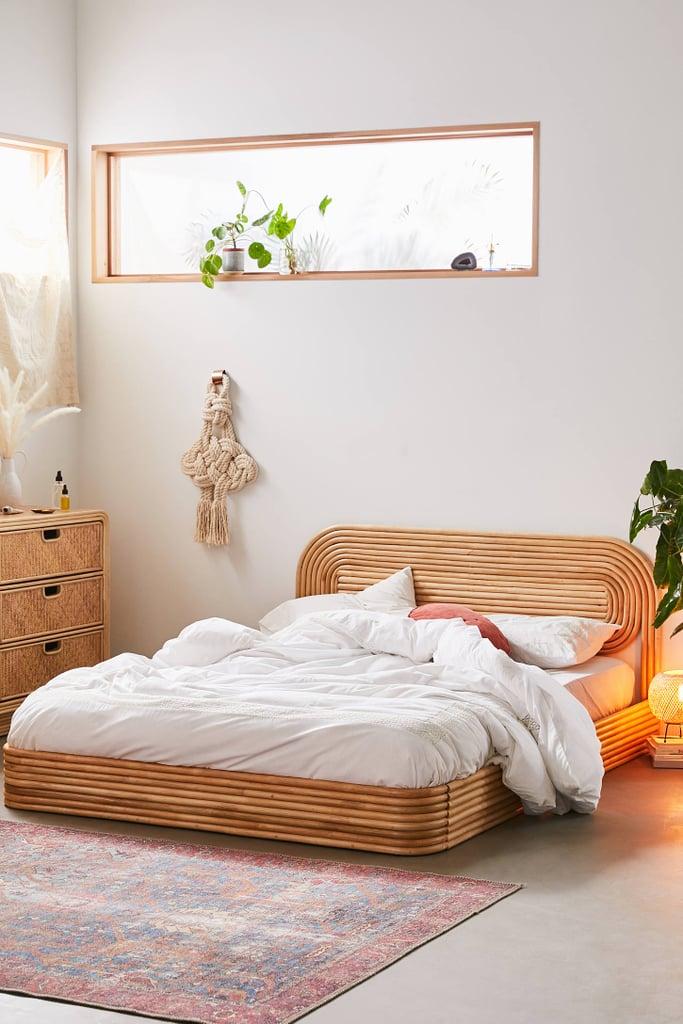 White Bed Frame Boho