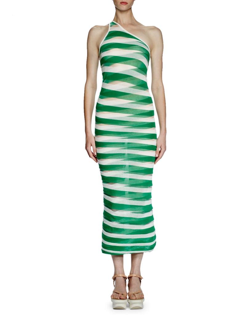 Stella McCartneyTransparent-Striped Long Dress($985)
