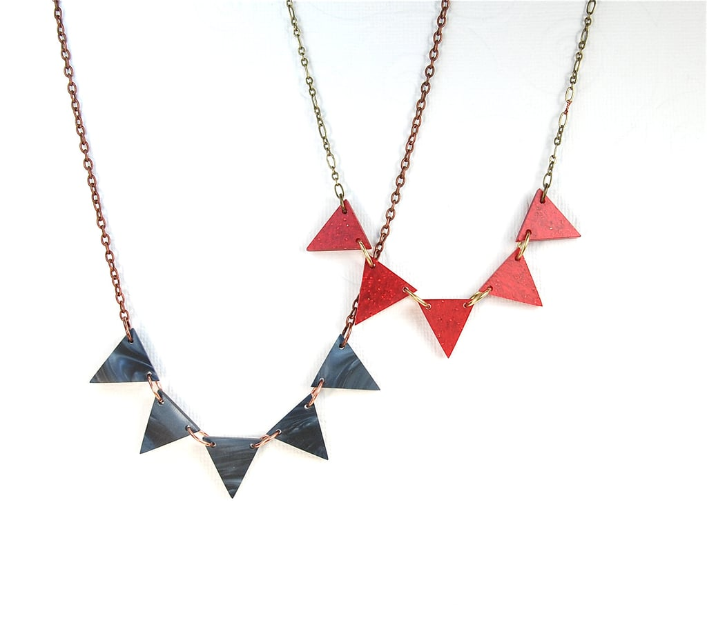 Sport your candidate's colors with the Party Pennants Necklace ($39) — a fun piece that you can wear postelection, too.