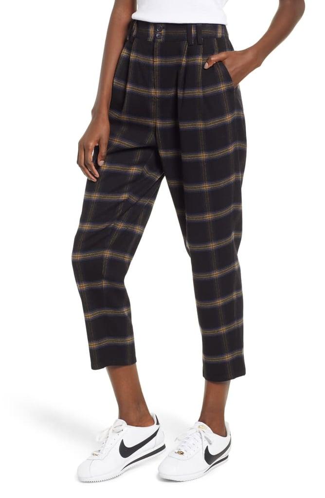 ece106d915 BP. x Claudia Sulewski Plaid Menswear Crop Pants | Claudia Sulewski ...