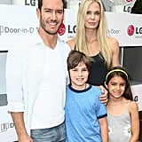 Mark-Paul and Catriona took the kids to an LA event in July 2014.