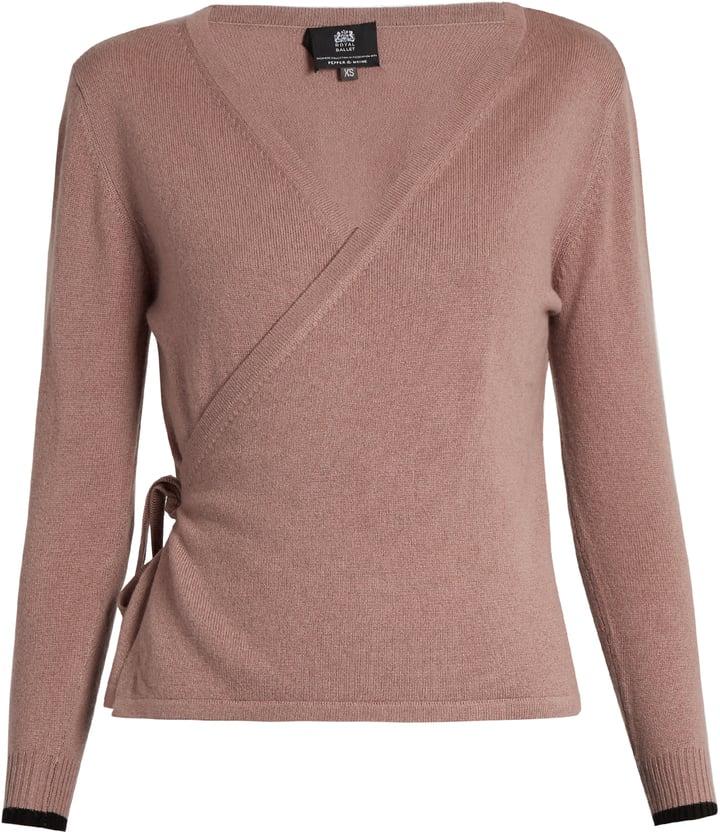 Pepper & Mayne Cashmere ballet wrap cardigan ($300) | Wrap Sweater ...