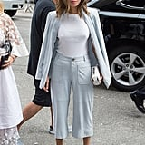 Or a pair of culottes instead of slim trousers.