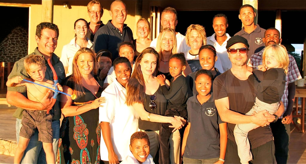 Pictures of Angelina Jolie, Brad Pitt, Shiloh and Zahara in Namibia