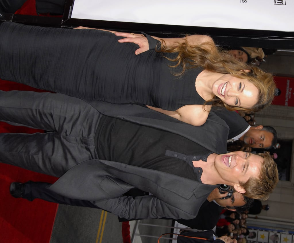 Brad Pitt and Angelina Jolie let loose at the June 2007 LA premiere of his buddy flick Ocean's Thirteen.