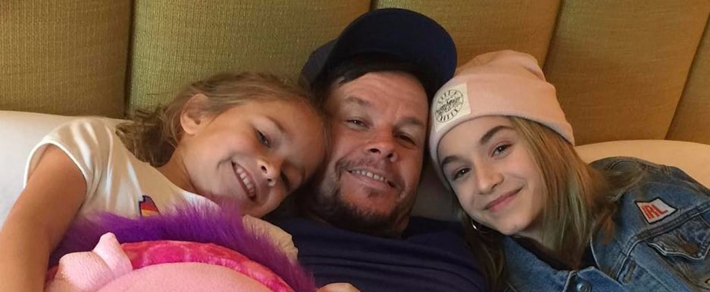 """Mark Wahlberg Snuggles Up With His Girls After Their """"Daddy-Daughter Bonding Weekend"""""""