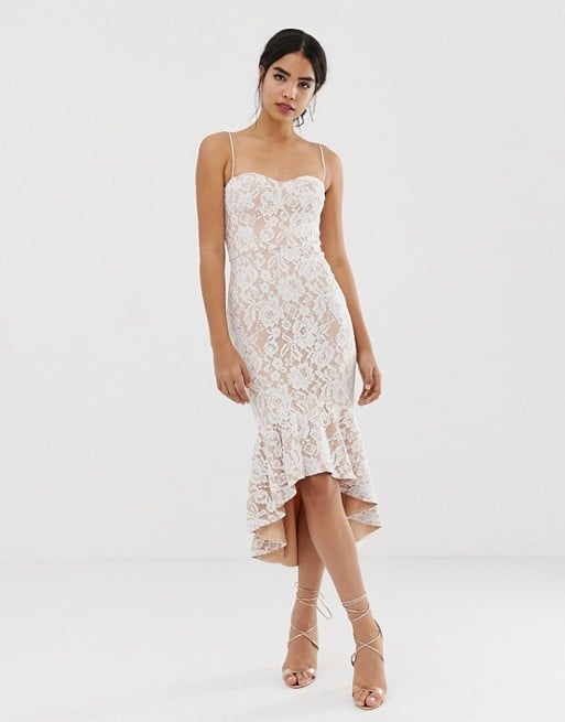 Jarlo Lace Cami Strap Lace Midi Dress