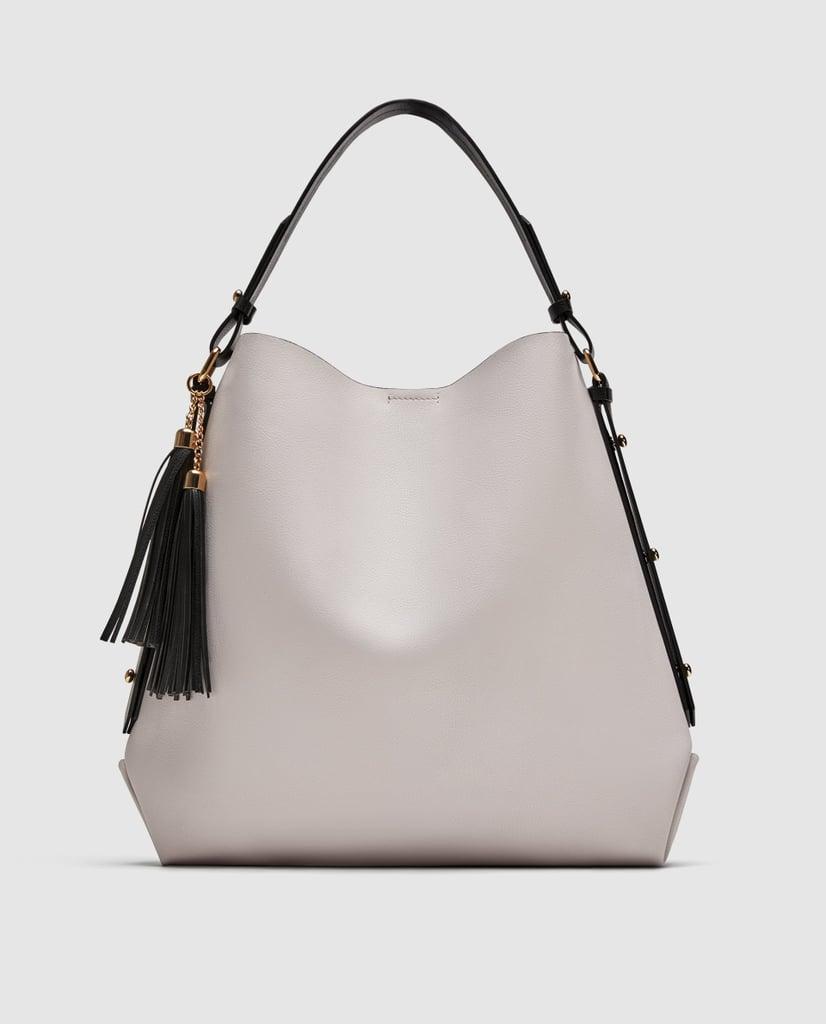 Zara Bucket Bag With Tassel Detail
