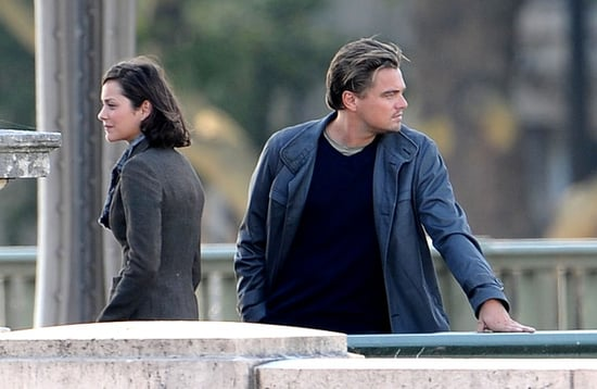 Leo Dicaprio and Marion Cotillard filming scenes for their movie