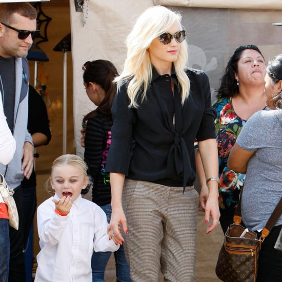 Gwen Stefani Wearing Plaid Pants at Pumpkin Patch